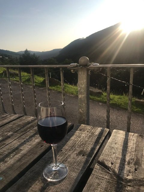 Wine and sunset AFAN