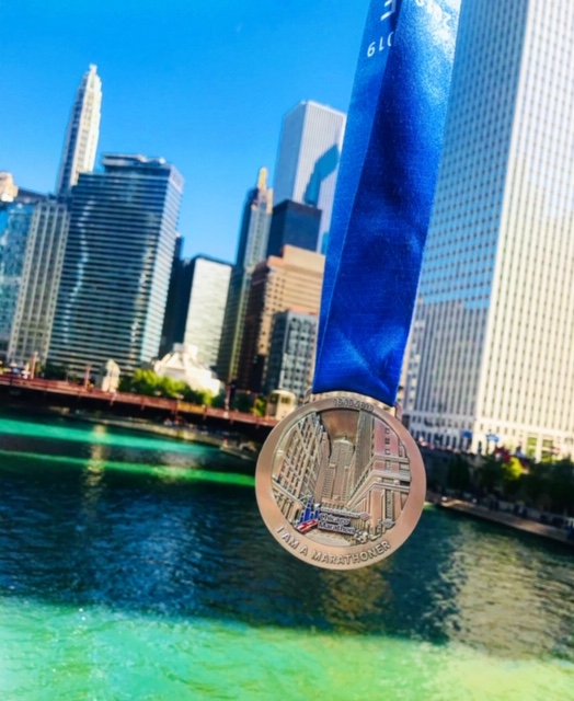 Chicago skyline and medal